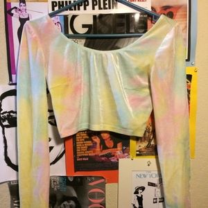 70s inspired Forever 21 Tie-Dye Crop Top